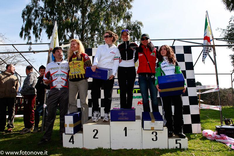 podio femminile Spinacato Trittico Laziale