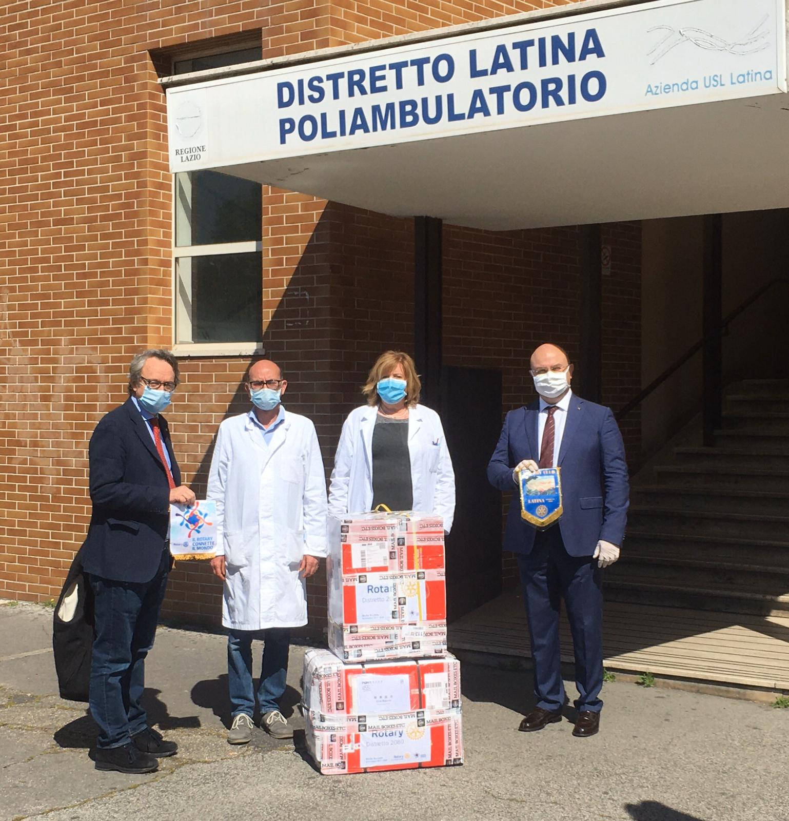 Rotary Club Latina: donate 5000 mascherine