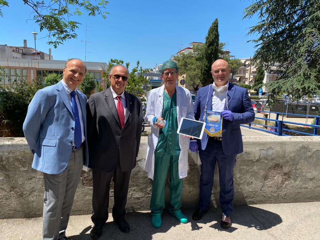 Rotary Latina: donato ecografo al Goretti