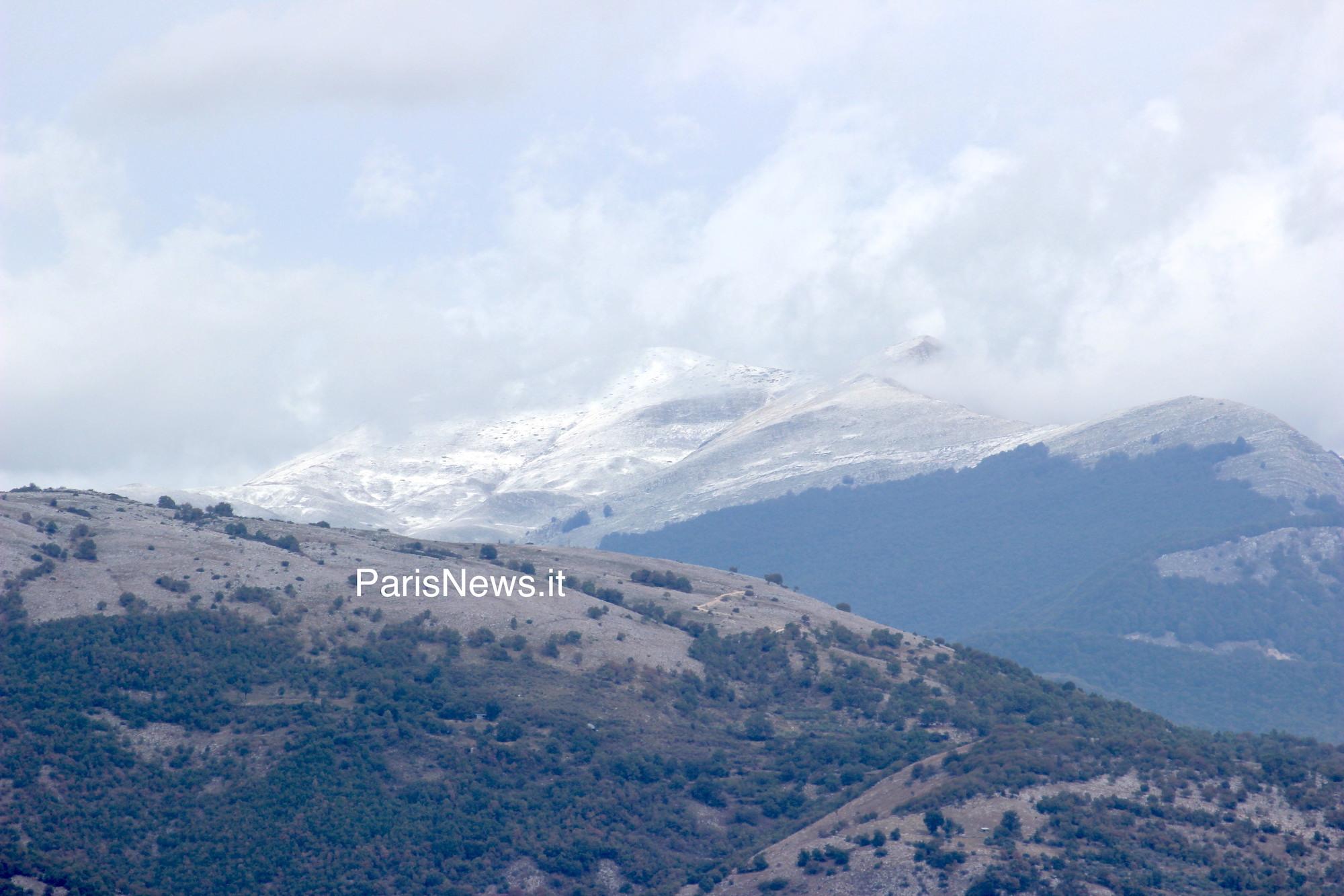 Maltempo: prima neve in Ciociaria